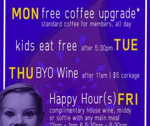 WEEKDAY DEALS
