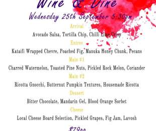 Wine & Dine Menu