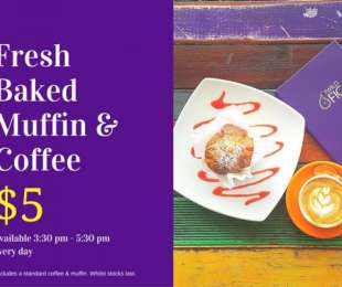 Coffee & Muffin for $5
