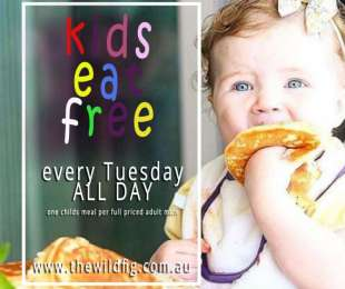 FREE Kids Meals on Tuesdays ALL DAY