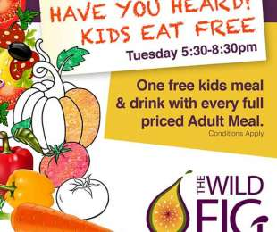 Kids eat FREE on Tuesdays